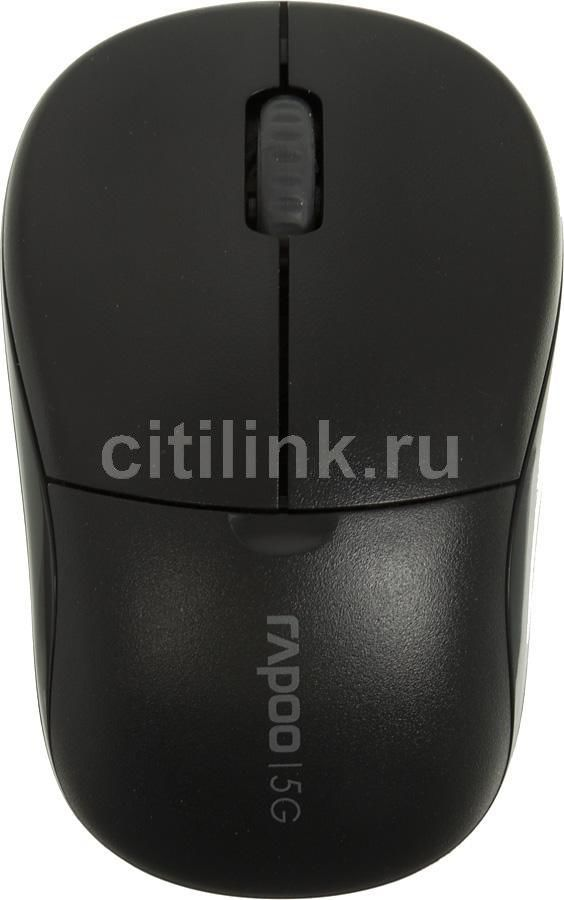 Мышь RAPOO 1090p Light оптическая беспроводная USB, черный [11467]