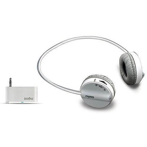 Наушники с микрофоном RAPOO H3070,  накладные, радио,  серый  [10809]