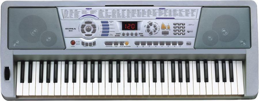 Синтезатор SUPRA SKB-614, 61, невзвешенная, полноразмерные, 16