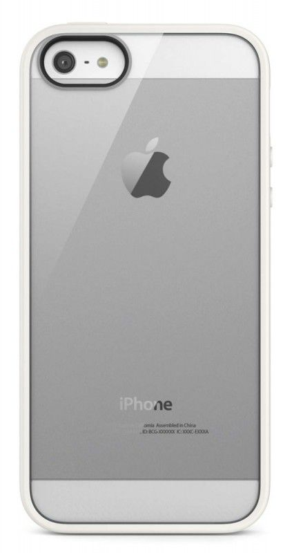 Чехол (клип-кейс) BELKIN F8W153vfC07, для Apple iPhone 5, белый