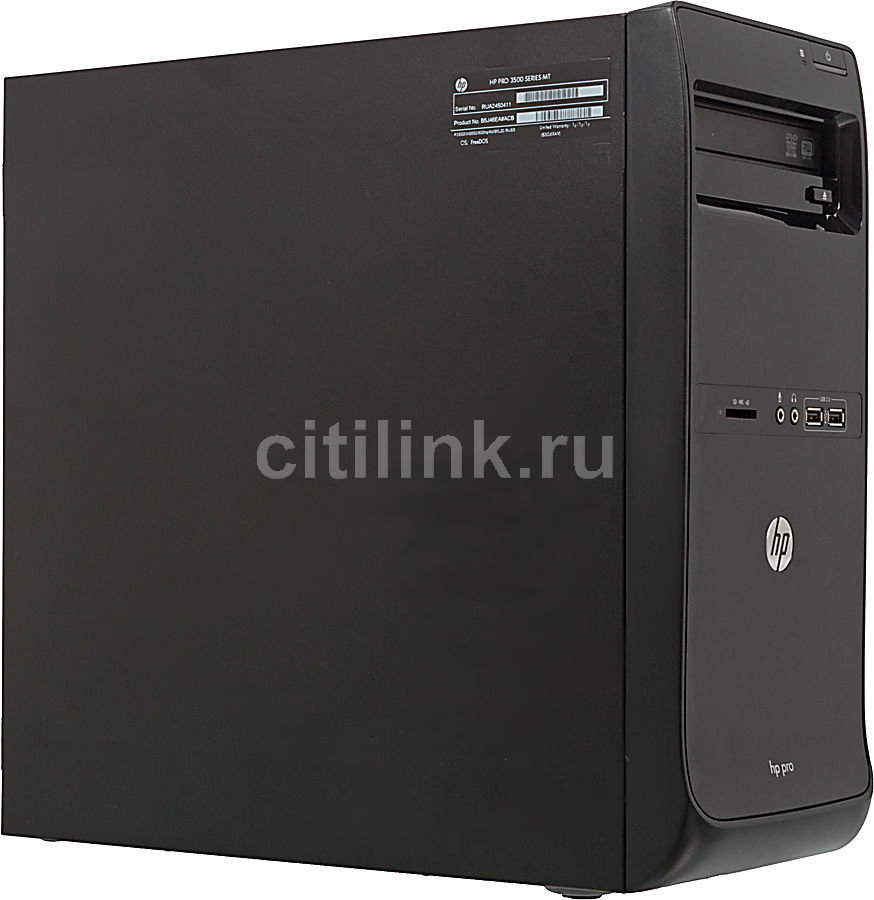 Компьютер  HP Pro 3500 MT,  Intel  Core i5  3470,  DDR3 4Гб, 1000Гб,  Intel HD Graphics 2500,  DVD-RW,  CR,  Windows 7 Professional,  черный [c5x66ea]