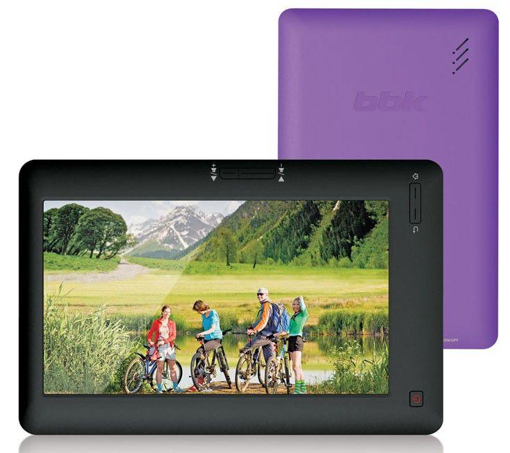 MP3 плеер BBK LV772 flash 8Гб черный/фиолетовый