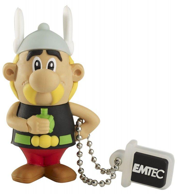Флешка USB EMTEC AS100 Asterix 4Гб, USB2.0, черный и коричневый [ekmmd4gas100]