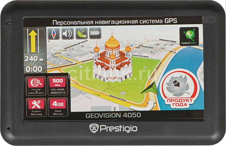 GPS навигатор PRESTIGIO GeoVision 4050,  4.3