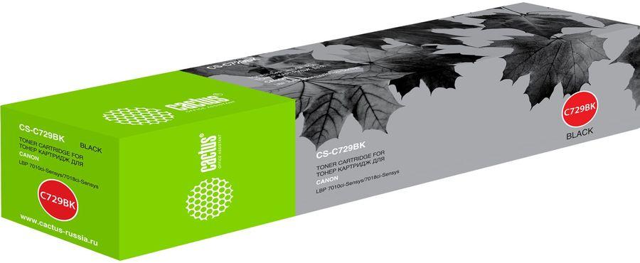 Картридж CACTUS CS-C729BK черный