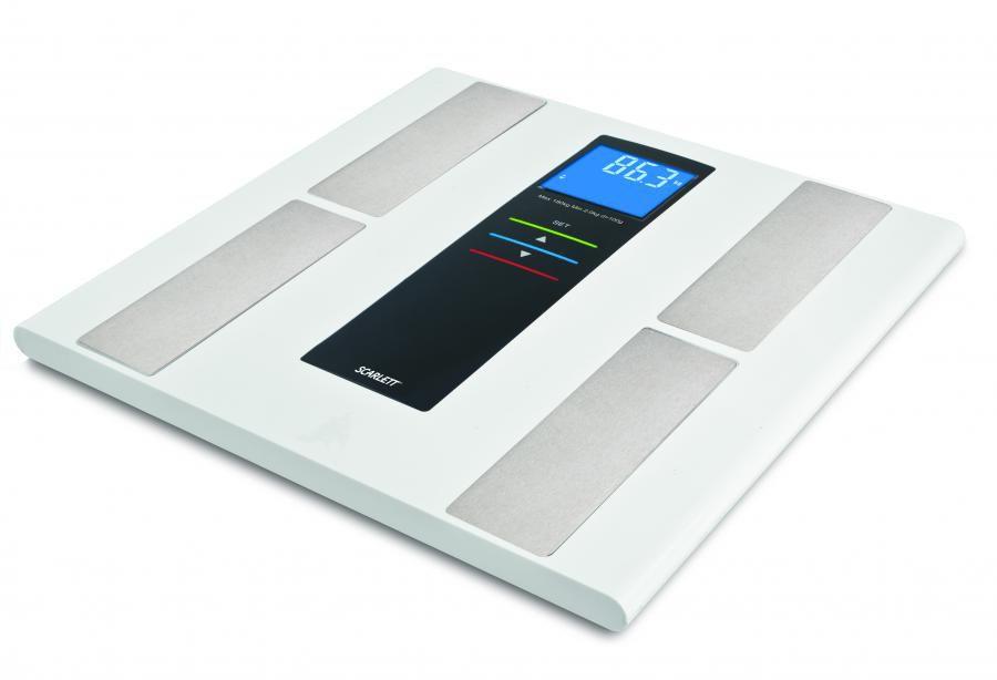 Напольные весы SCARLETT SC219, до 180кг, цвет: белый
