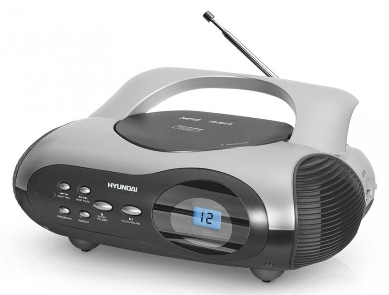 Аудиомагнитола HYUNDAI H-1413,  серебристый