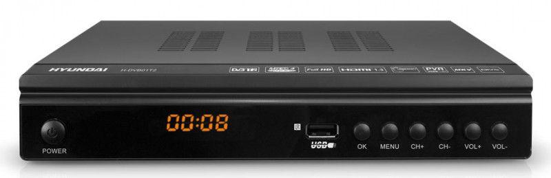 Ресивер DVB-T2 HYUNDAI H-DVB01T2,  черный