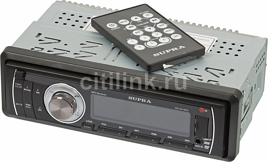 Автомагнитола SUPRA SFD-1011DCU,  USB,  SD/MMC