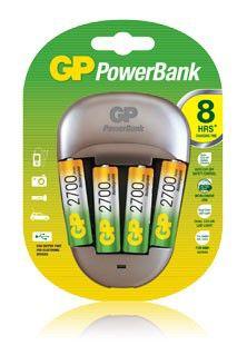 Аккумулятор + зарядное устройство GP PowerBank PB27GS270/100BB6NR-2CR6,  6 шт. AA,  2700мAч