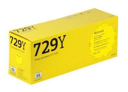 Картридж T2 TC-C729Y Yellow (с чипом)