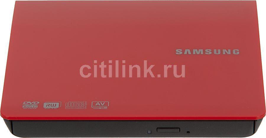 Оптический привод DVD-RW SAMSUNG SE-208GB/RSRDE, внешний, USB, красный,  Ret