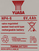 Батарея для ИБП YUASA NP4-6  6В,  4Ач вид 2