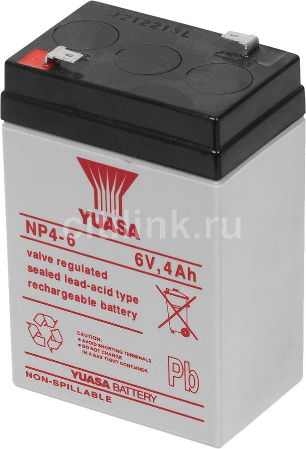 Батарея для ИБП YUASA NP4-6  6В,  4Ач