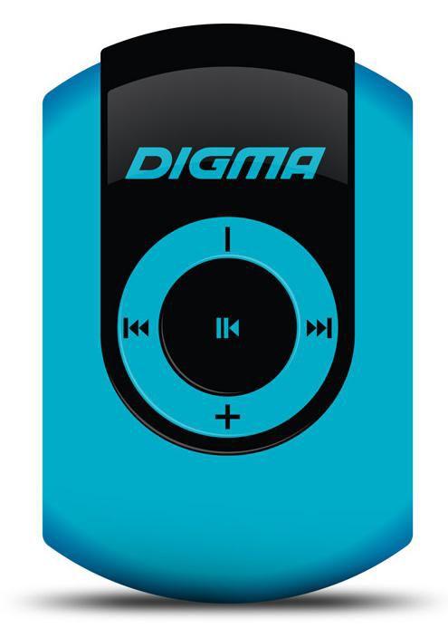 MP3 плеер DIGMA C1 flash 4Гб голубой