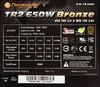 Блок питания THERMALTAKE TR2 SMART TR-650P Bronze,  650Вт,  115мм,  черный, retail [tr-650pcbeu] вид 4