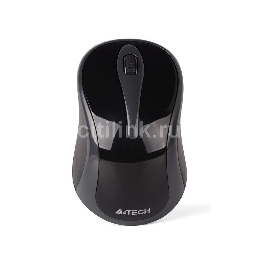 Мышь A4 V-Track G3-280A USB, серый и черный