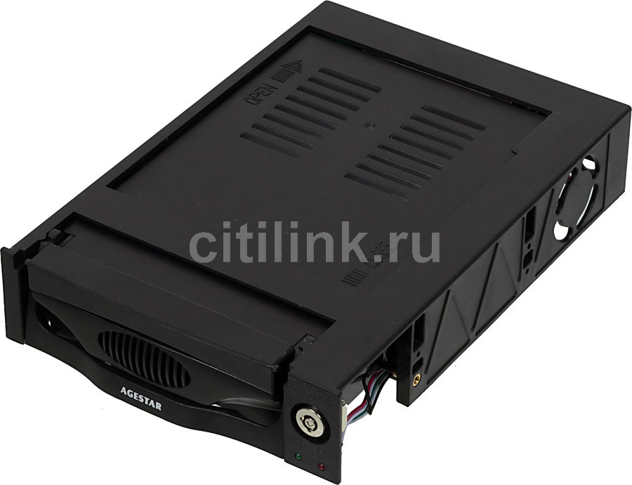 Mobile rack (салазки) для  HDD AGESTAR MR3-SATA (k)-F, черный