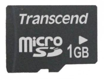 Карта памяти microSD TRANSCEND 1 ГБ, TS1GUSD,  1 шт., переходник SD