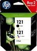 Набор картриджей HP121 черный / трехцветный