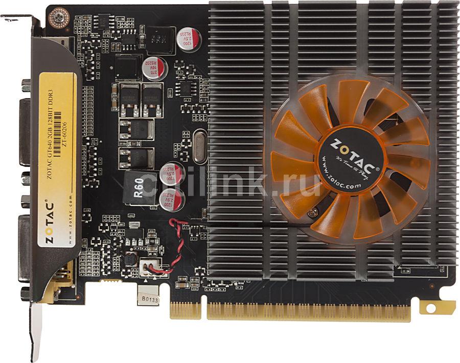 Видеокарта ZOTAC GeForce GT 640,  2Гб, DDR3, Ret [zt-60206-10l]