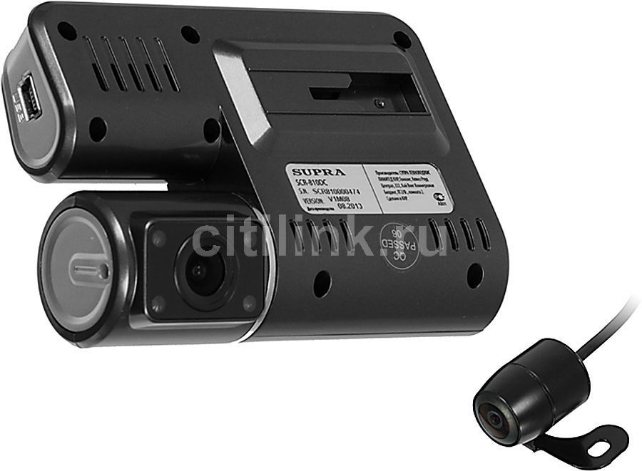 Видеорегистратор SUPRA SCR-810DC черный