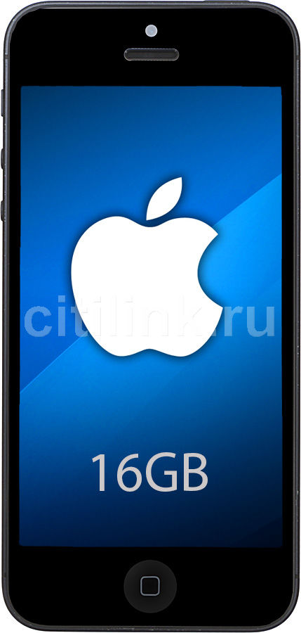 Смартфон APPLE iPhone 5 16Gb,  EU MD297/MD654,  черный