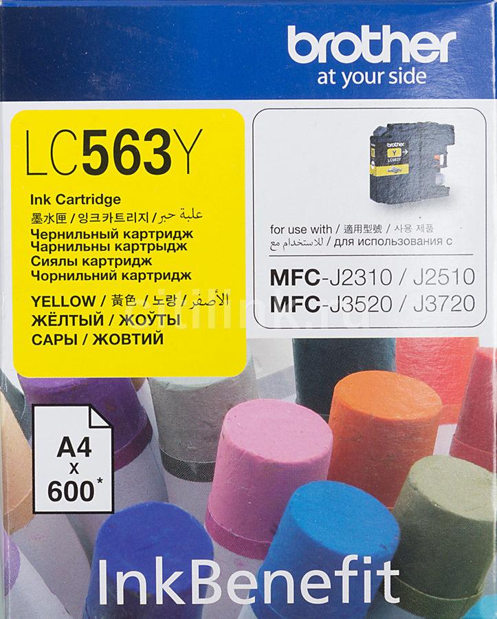 Картридж BROTHER LC563Y желтый