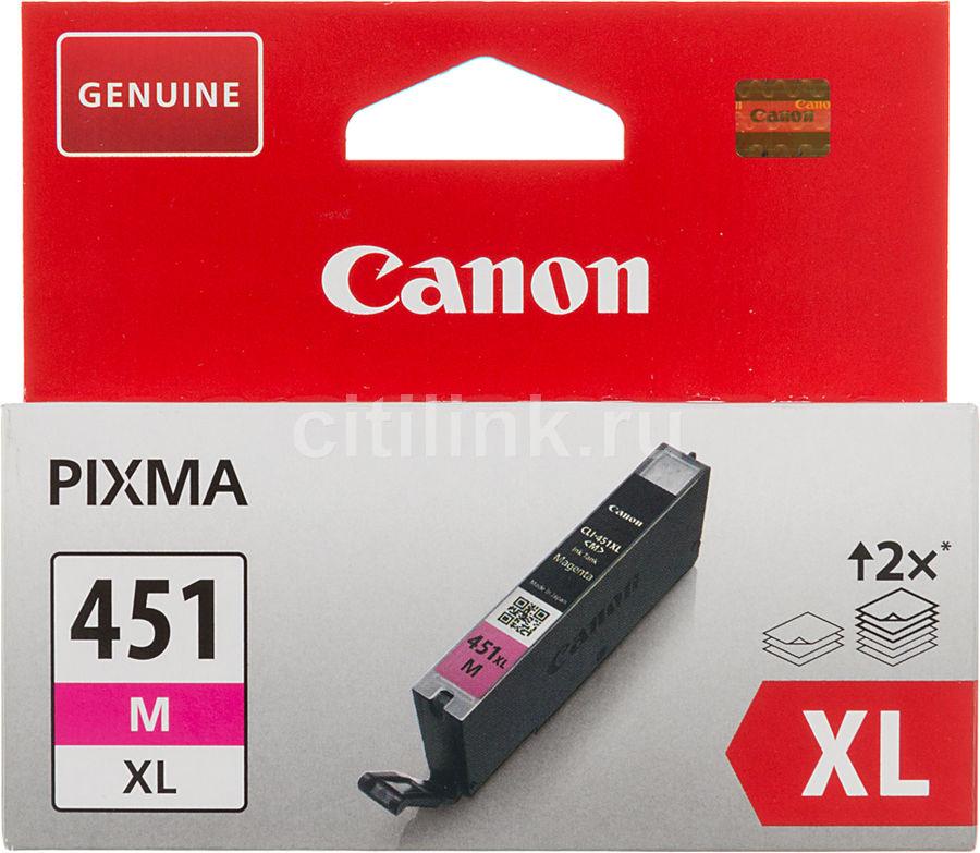 Картридж CANON CLI-451XLM пурпурный [6474b001]