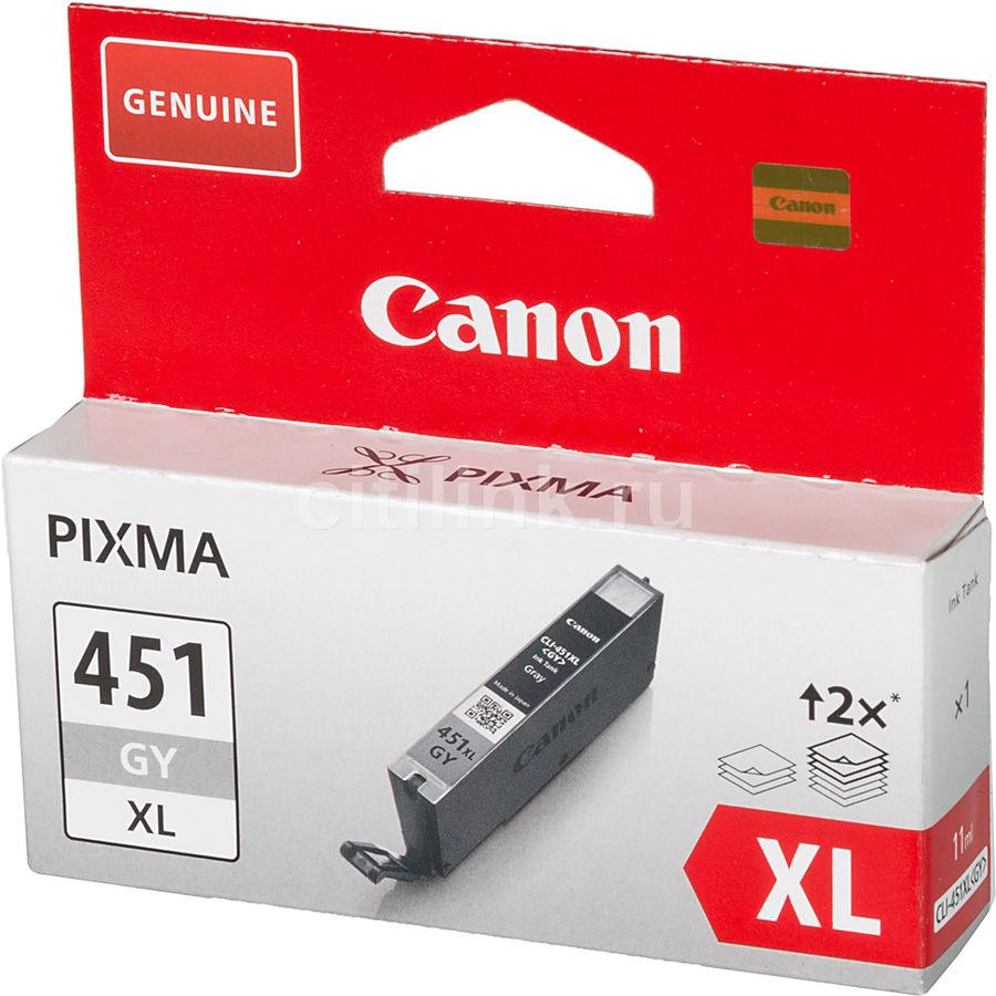Картридж CANON CLI-451XLGY серый [6476b001 ]