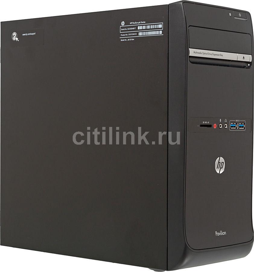 Компьютер  HP Pavilion p6-2316en,  Intel  Core i7  3770,  DDR3 8Гб, 2Тб,  nVIDIA GeForce GT640 - 3072 Мб,  DVD-RW,  CR,  Windows 8,  черный [c6w67ea]