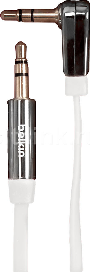 Кабель аудио BELKIN AV10128cw03-WHT,  Jack 3.5 (m)  -  Jack 3.5 (m)  (Г-образный),  0.9м, FLAT белый