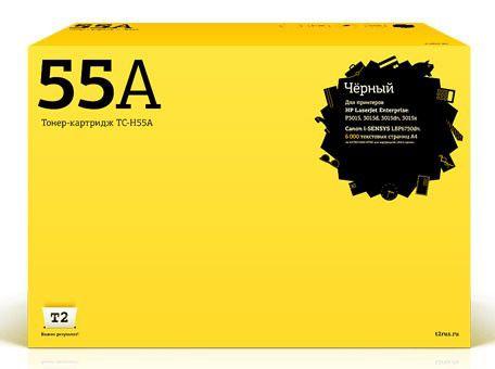 Картридж T2 CE255A черный [tc-h55a]