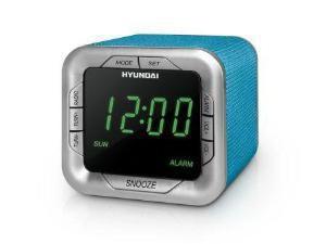 Радиобудильник HYUNDAI H-1505U, зеленая подсветка,  аквамарин