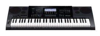 Синтезатор CASIO CTK-7200, 61, невзвешенная, полноразмерные, 64, черный