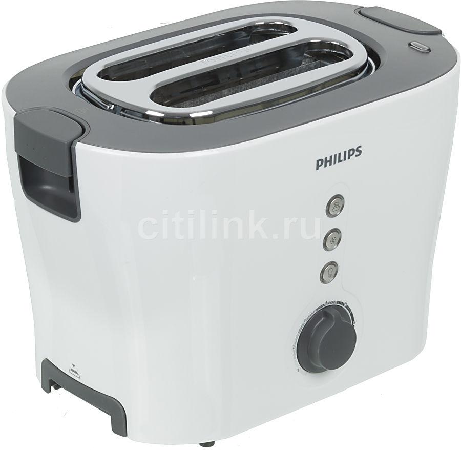 Тостер PHILIPS HD2630/50,  белый/серый