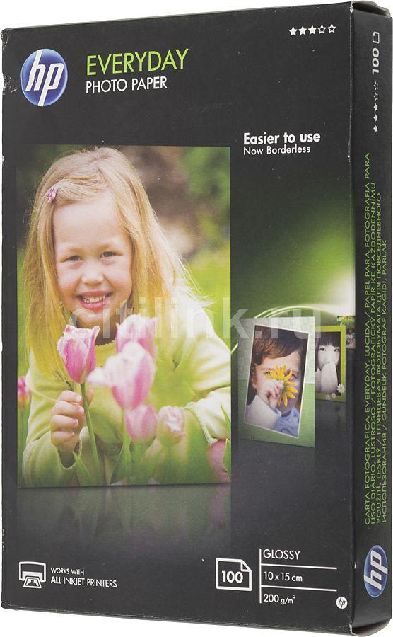 Фотобумага НР CR757A Глянцевая, 100 листов/10 x 15 см