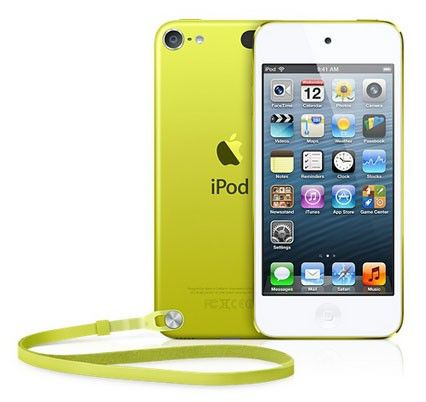 MP3 плеер APPLE iPod touch 5 flash 32Гб желтый/белый [md714rp/a]
