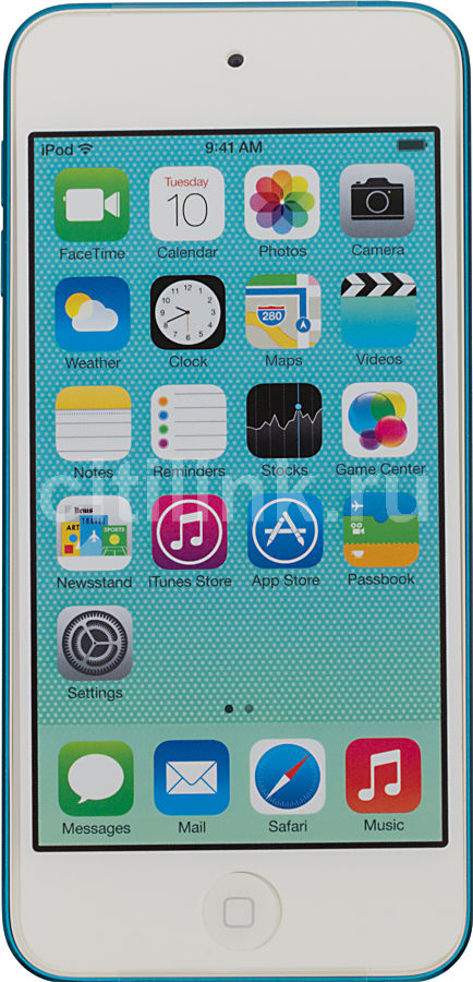 MP3 плеер APPLE iPod touch 5 flash 64Гб голубой/белый [md718ru/a]
