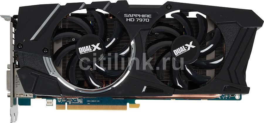 Видеокарта SAPPHIRE Radeon HD 7970,  11197-03-40G,  3Гб, GDDR5, OC,  Ret