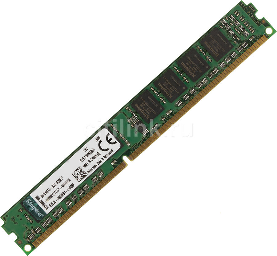 Модуль памяти KINGSTON KVR13N9S8/4 DDR3 -  4Гб 1333, DIMM,  OEM