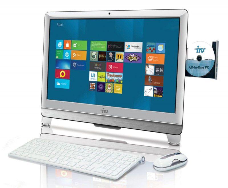 Моноблок IRU AIO 308, Intel Core i3 3220, 4Гб, 1000Гб, Intel HD Graphics 2500, DVD-RW, Windows 7 Professional, белый