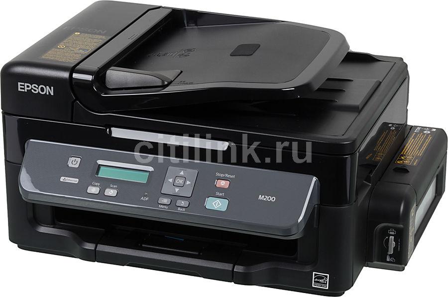МФУ EPSON M200, A4, струйный, черный [c11cc83311]