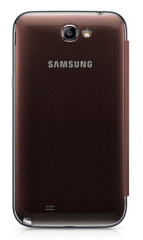 Чехол (флип-кейс) SAMSUNG EFC-1J9FAEGSTD, для Samsung Note II, коричневый