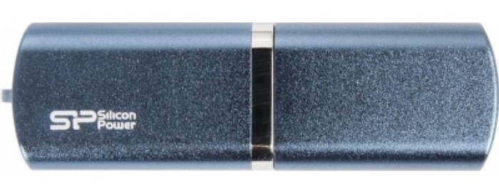 Флешка USB SILICON POWER LuxMini 720 64Гб, USB2.0, синий [sp064gbuf2720v1d]