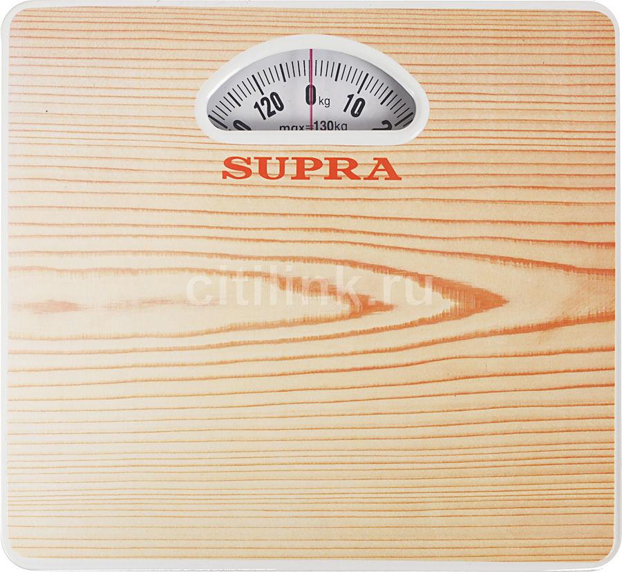 Напольные весы SUPRA BSS-4061, до 130кг, цвет: рисунок/дерево [4475]