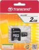 Карта памяти microSD TRANSCEND 2 ГБ
