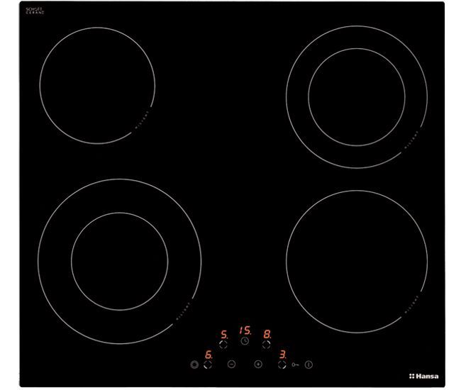 Варочная панель HANSA BHC63506,  Hi-Light,  независимая,  черный