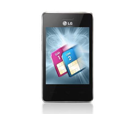 Мобильный телефон LG T370  белый/красный