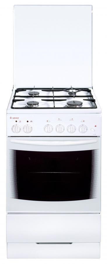 Газовая плита ГЕФЕСТ 3102,  электрическая духовка,  белый